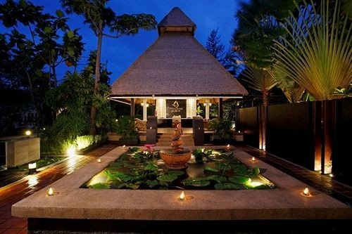 tree property Resort landscape lighting swimming pool home lighting mansion Villa backyard eco hotel Island