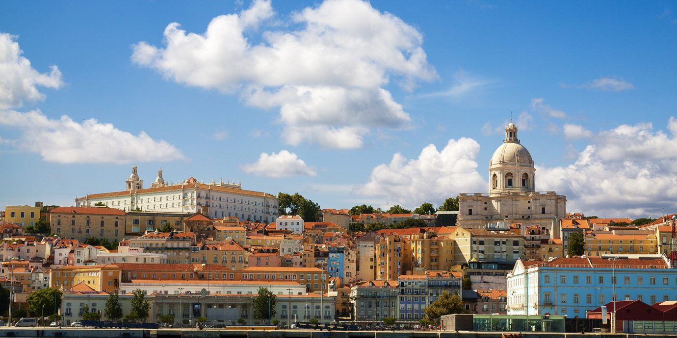 Lisbon Portugal Trip Ideas sky City landmark cloud cityscape Town daytime skyline urban area metropolitan area Sea tourism River horizon tourist attraction water metropolis building evening Harbor facade tree panorama