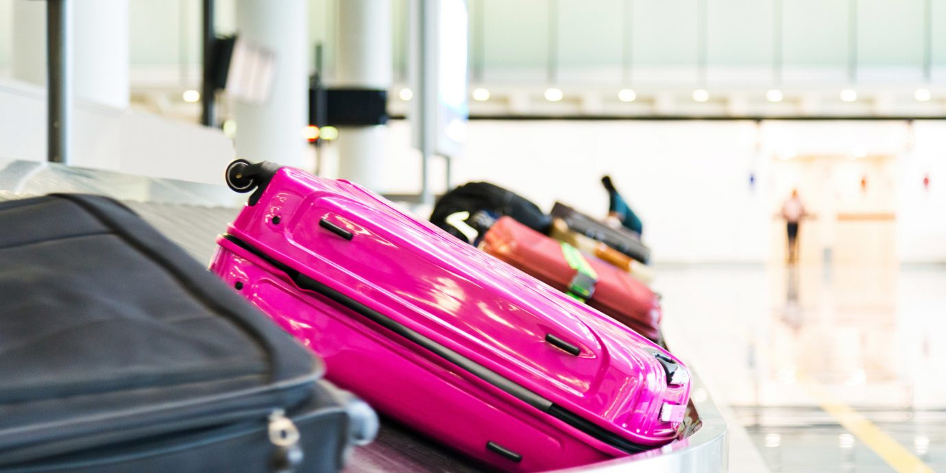 Travel Tips luggage suitcase color indoor red pink room product bag furniture colored