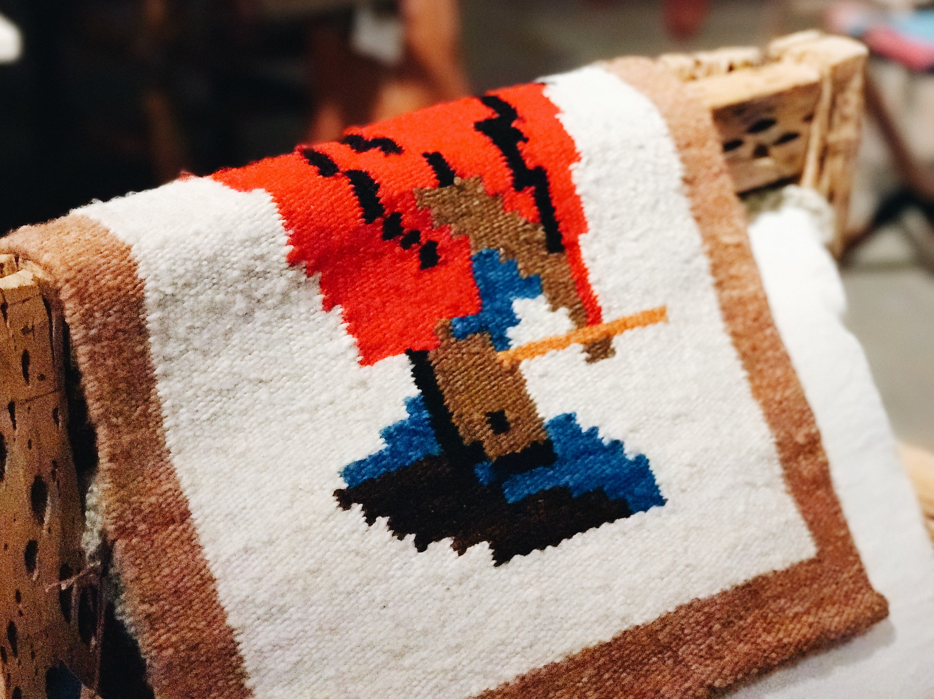 Trip Ideas cake art piece textile crochet material toy close colored