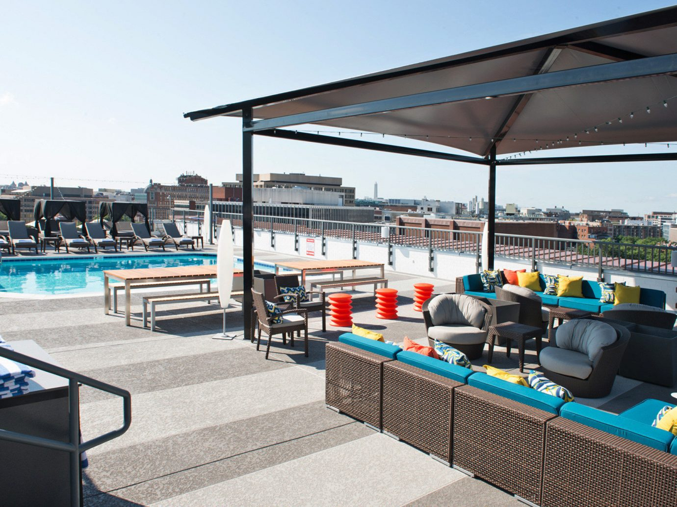Bar Boutique City Hip Hotels Lounge Pool Rooftop sky outdoor vehicle restaurant dock