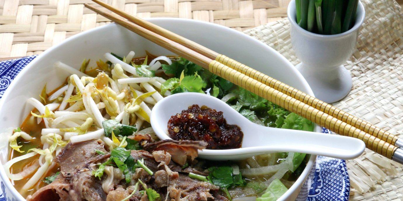 Food + Drink food plate table bowl dish cuisine vegetable noodle soup produce meal asian food pho lunch southeast asian food
