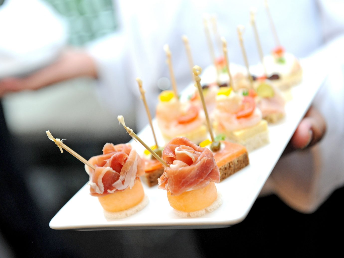 Food + Drink food dish plate meal hors d oeuvre brunch restaurant cuisine lunch pincho breakfast culinary art sense sushi