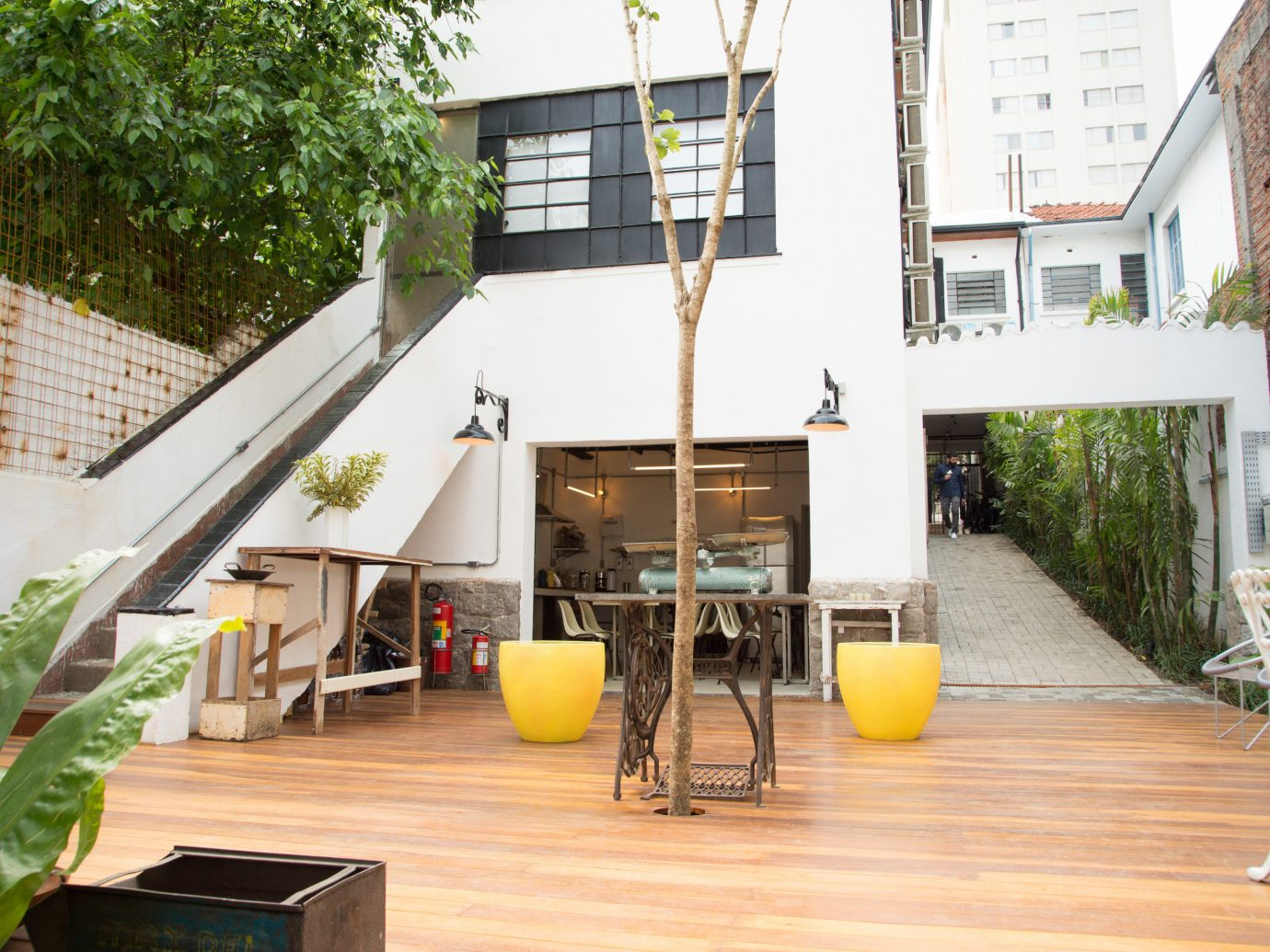 Hotels Architecture house real estate interior design roof outdoor structure loft apartment table Patio Courtyard Balcony furniture backyard