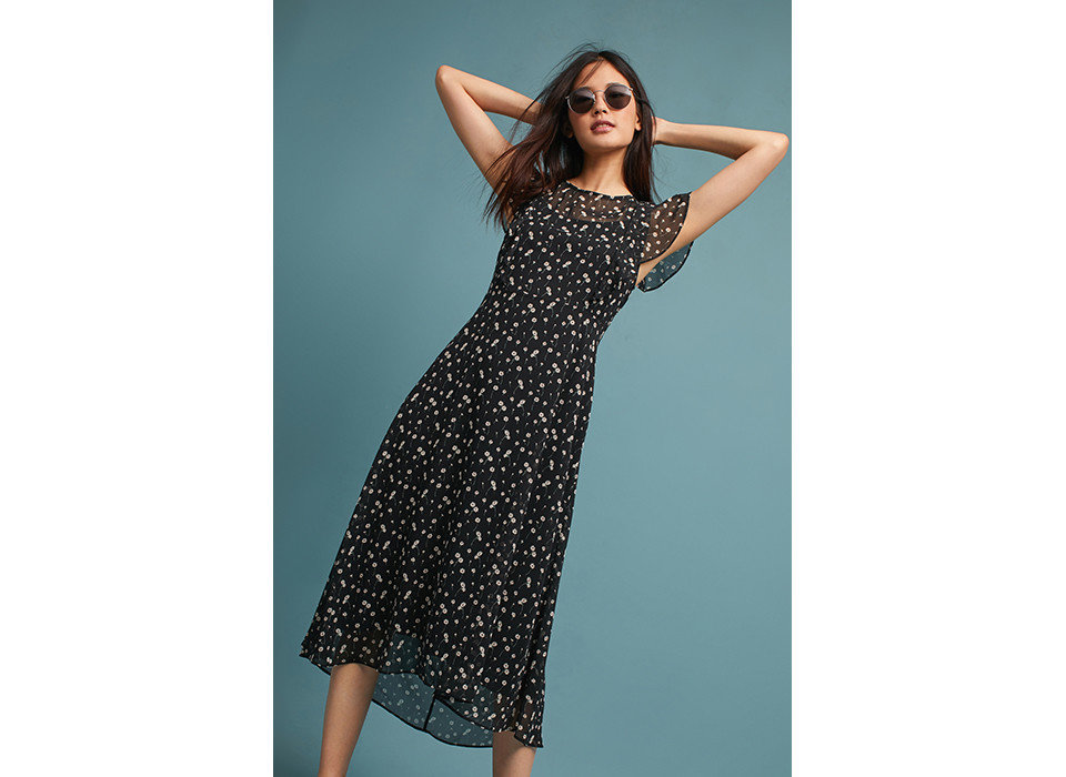 Style + Design woman clothing person day dress fashion model dress shoulder model cocktail dress lady joint polka dot photo shoot supermodel Design pattern posing neck girl little black dress female waist fashion design beautiful