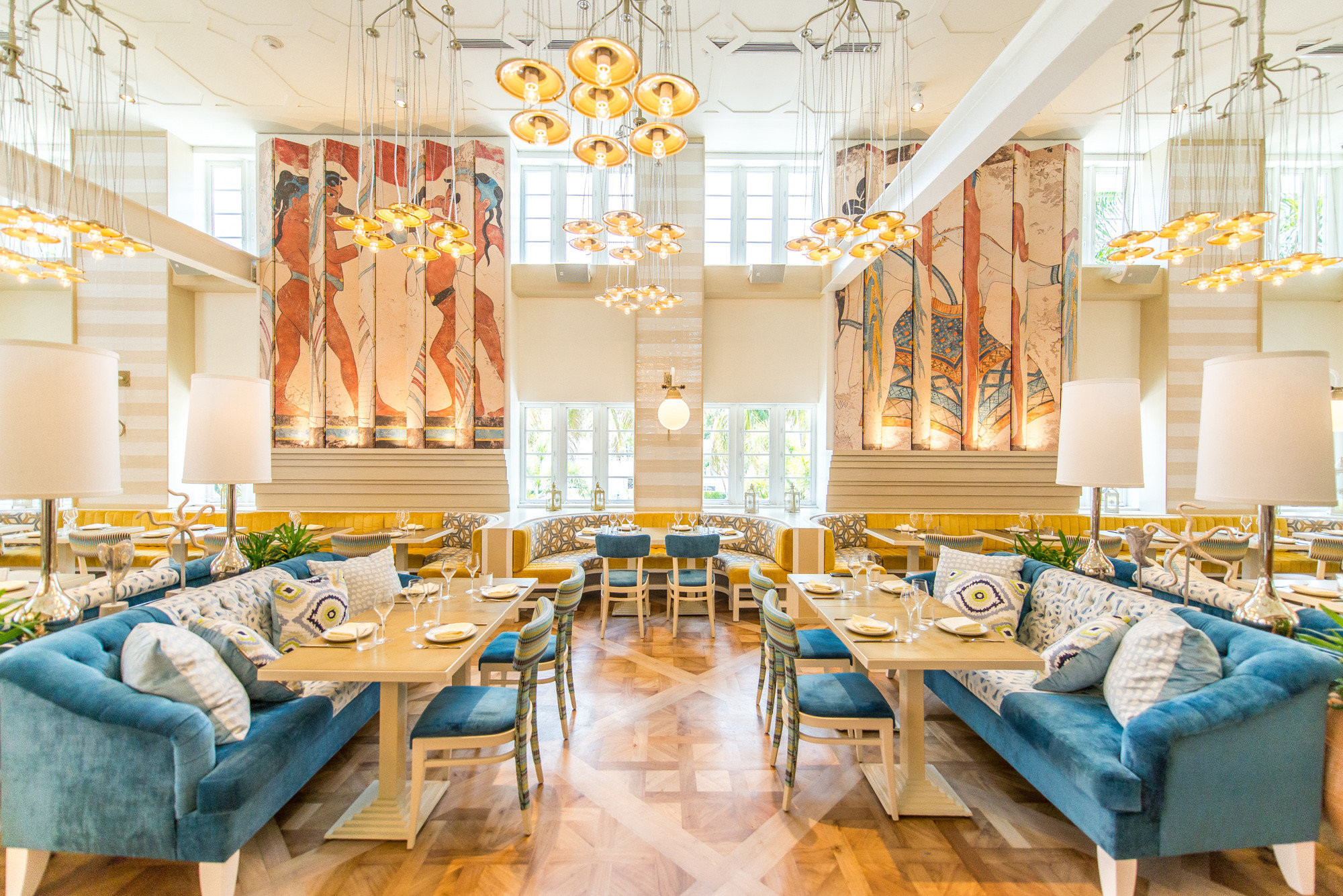 Food + Drink indoor table floor room dining room Living interior design function hall home restaurant estate real estate meal living room Design ballroom furniture decorated