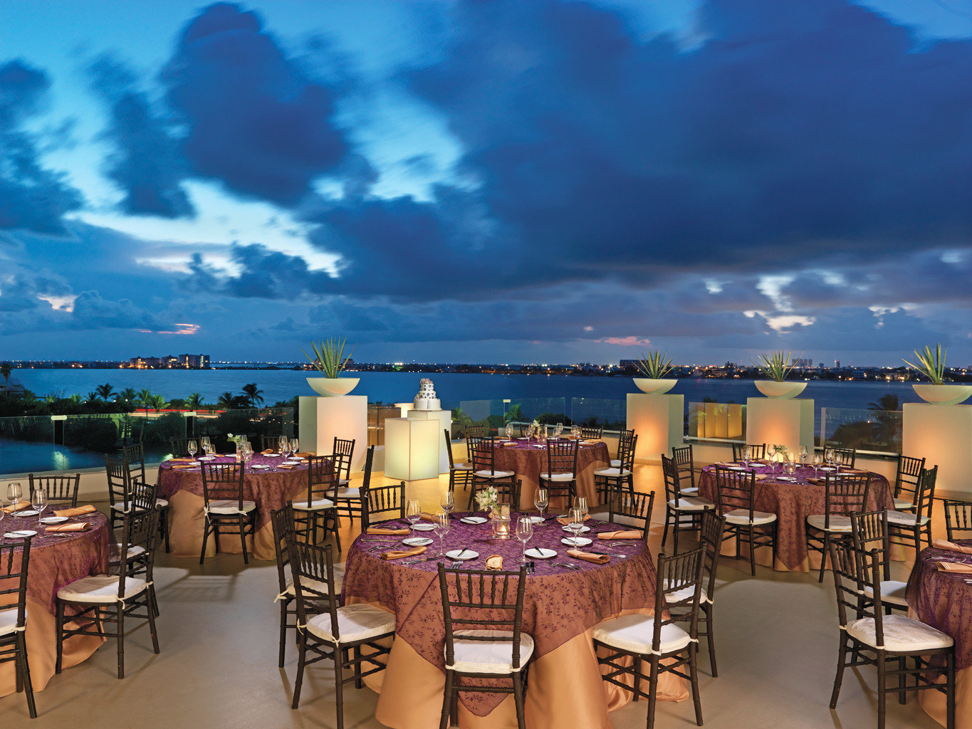 All-Inclusive Resorts Hotels Romance sky floor chair scene evening estate Resort restaurant