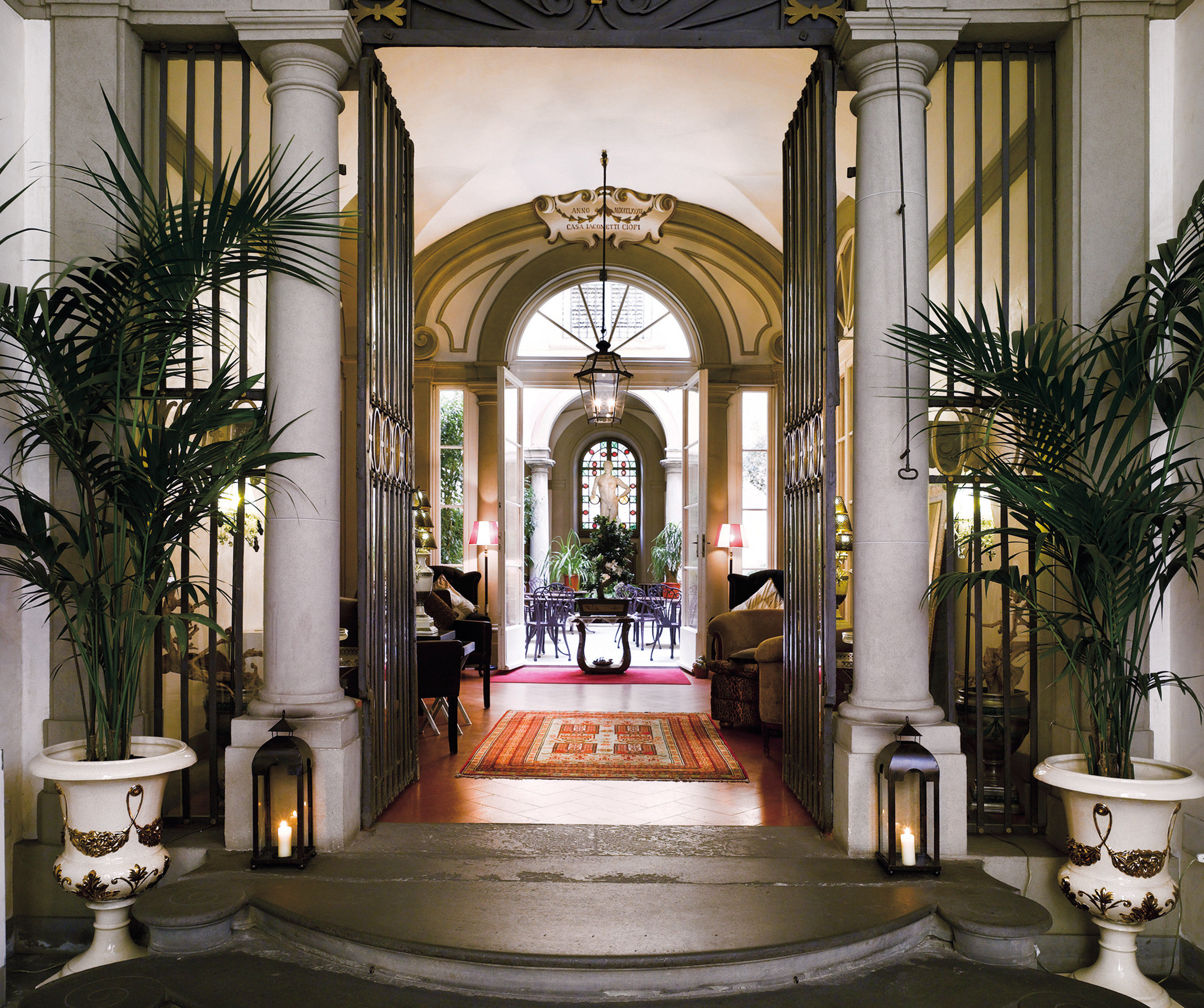 Boutique City Historic Hotels Lobby Luxury indoor building estate Architecture interior design mansion home palace arch Courtyard place of worship tourist attraction decorated altar colonnade