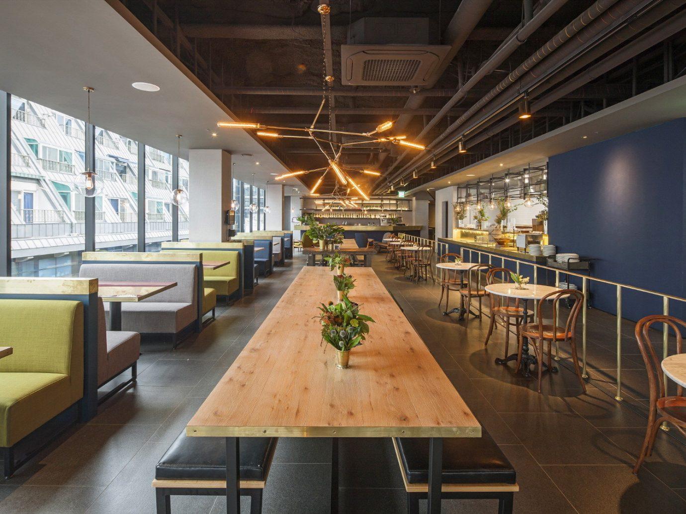 Hotels Luxury Travel table indoor floor ceiling interior design restaurant cafeteria café area furniture