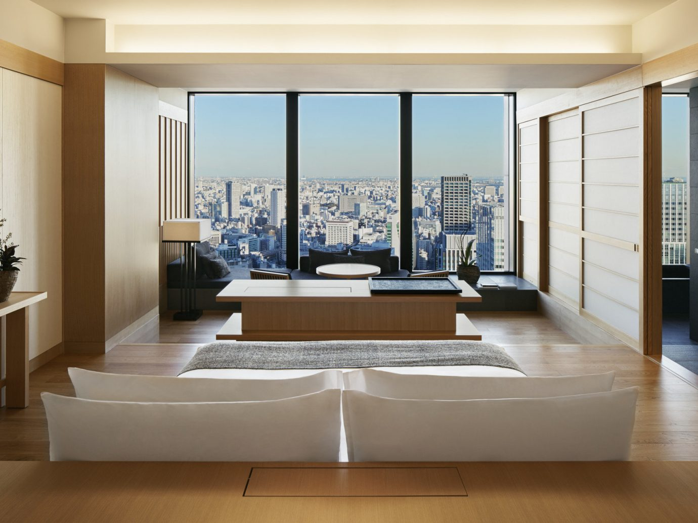 Hotels Japan Tokyo floor indoor wall window ceiling building room property living room interior design estate home condominium real estate Suite Design furniture apartment tub Modern wood bathtub Bath