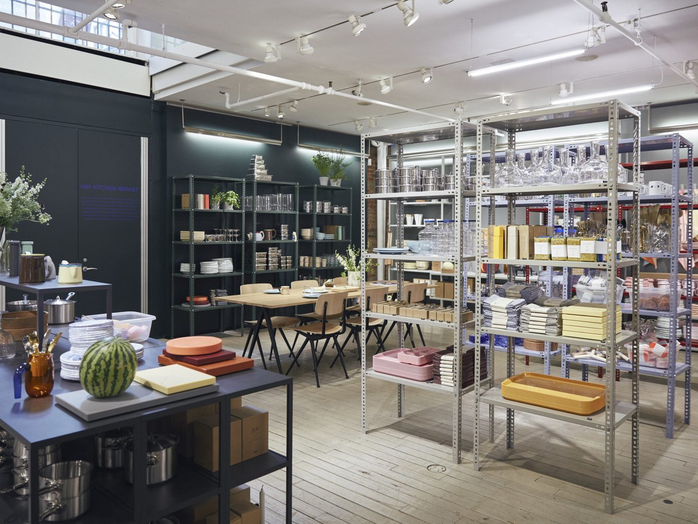 NYC Shops Style + Design indoor interior design retail café furniture