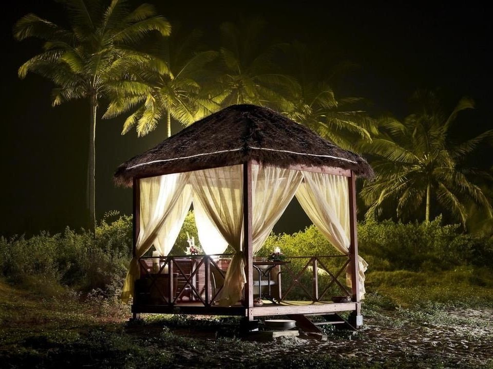 tree grass night house hut gazebo lighting Jungle landscape lighting outdoor structure