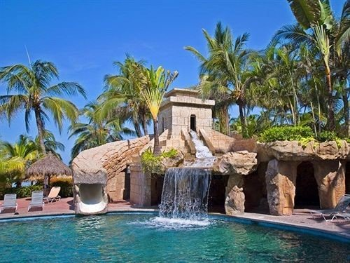 tree palm swimming pool property Pool Resort caribbean Villa Lagoon Jungle stone surrounded