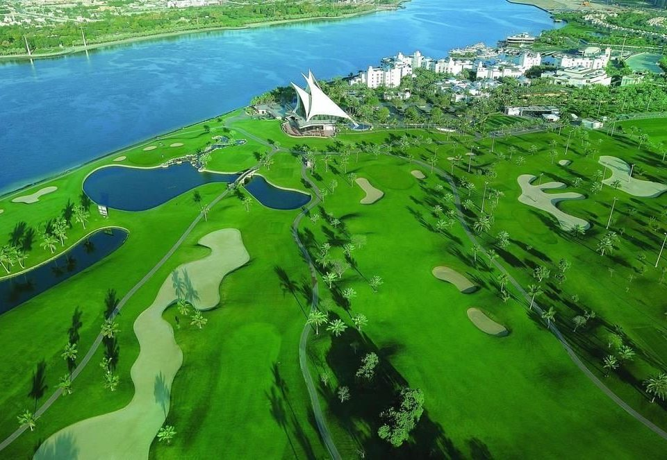 grass Nature green structure aerial photography ecosystem sport venue bird's eye view golf course Jungle lush