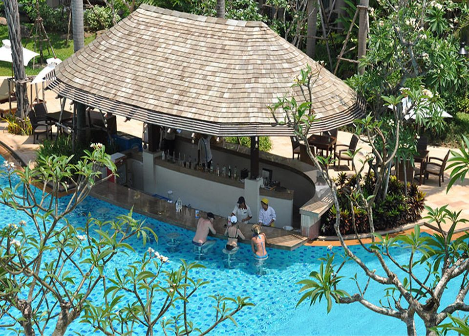 tree swimming pool Resort backyard Pool Jungle outdoor structure Villa swimming surrounded