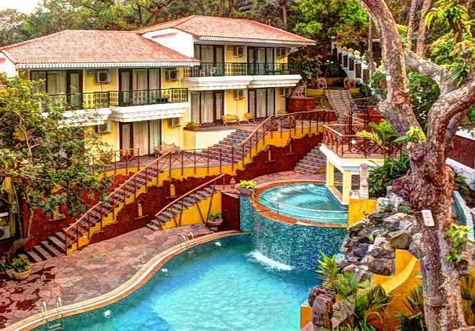 tree leisure Resort property swimming pool amusement park Water park Village backyard Jungle park colorful