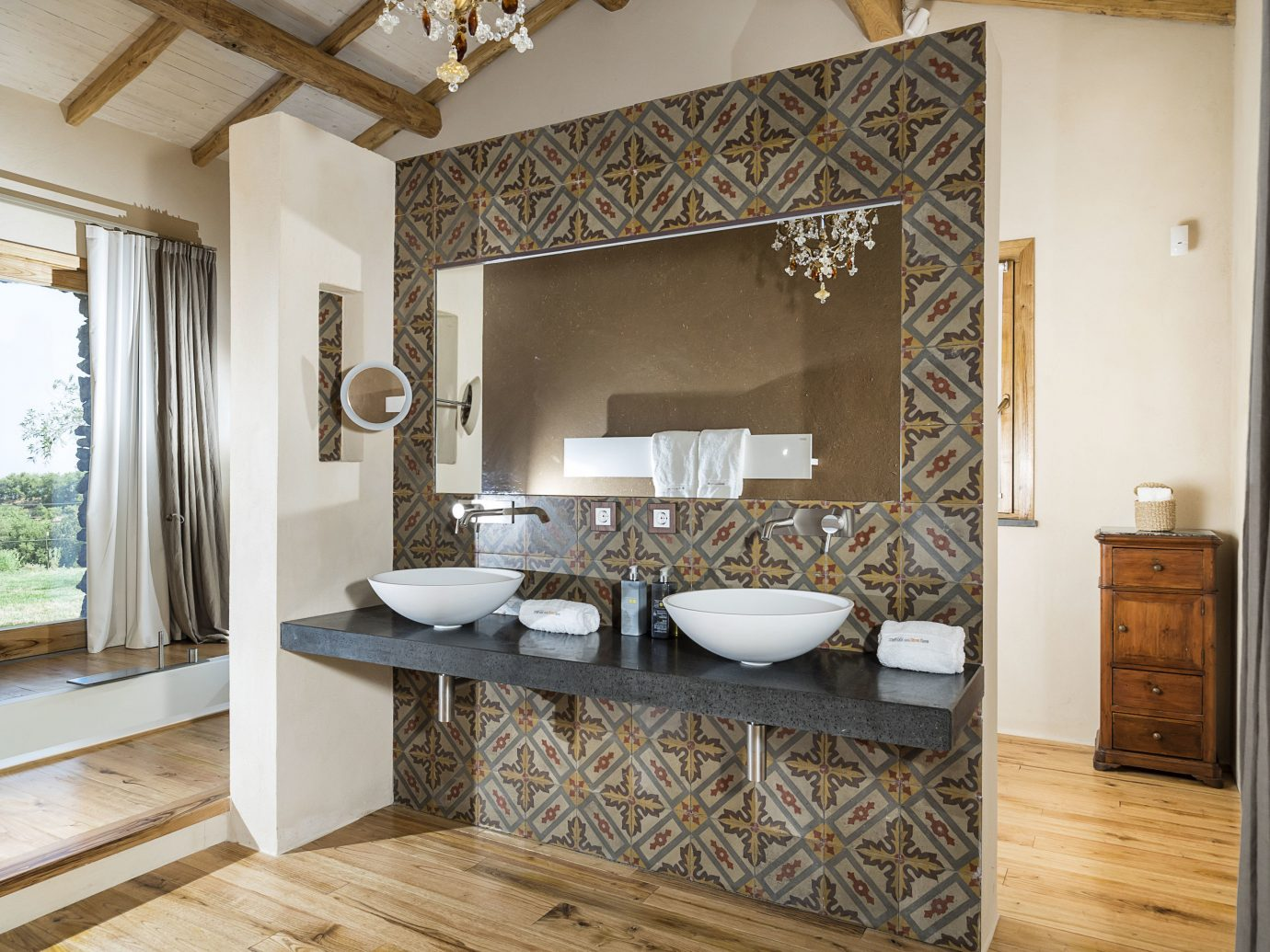 Trip Ideas indoor wall floor bathroom room interior design sink flooring ceiling estate tile interior designer wood flooring furniture tub Bath