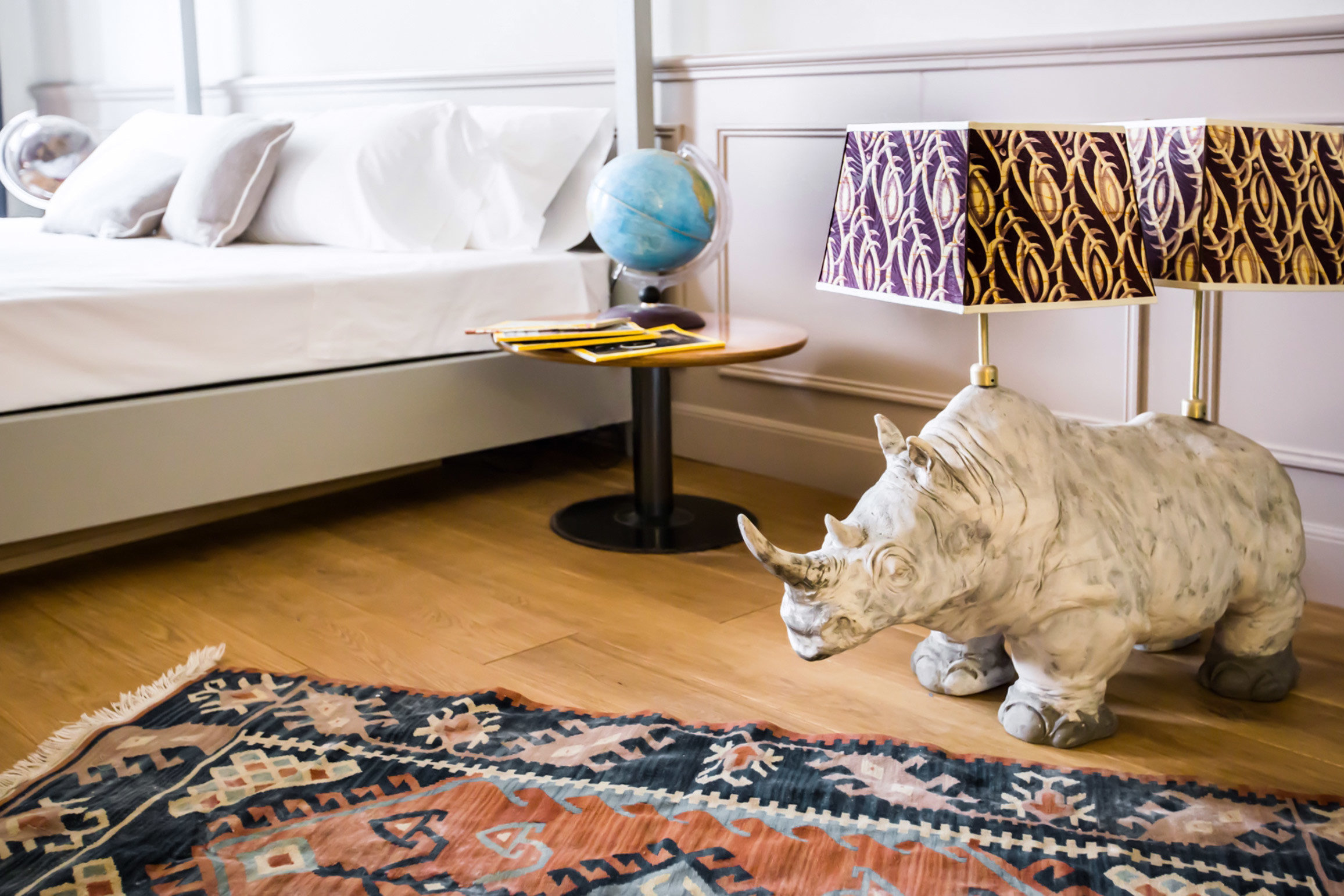 Bedroom City Design Florence Hotels Italy Living Luxury Suite indoor floor cat room flooring living room table interior design cat like mammal furniture textile small to medium sized cats bedclothes