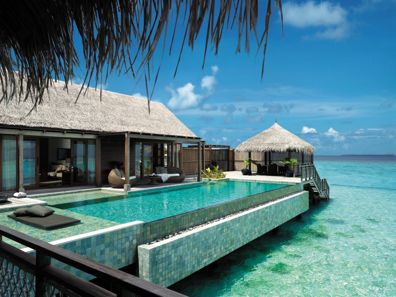 Exterior pool at Shangri-La's Villingili Resort