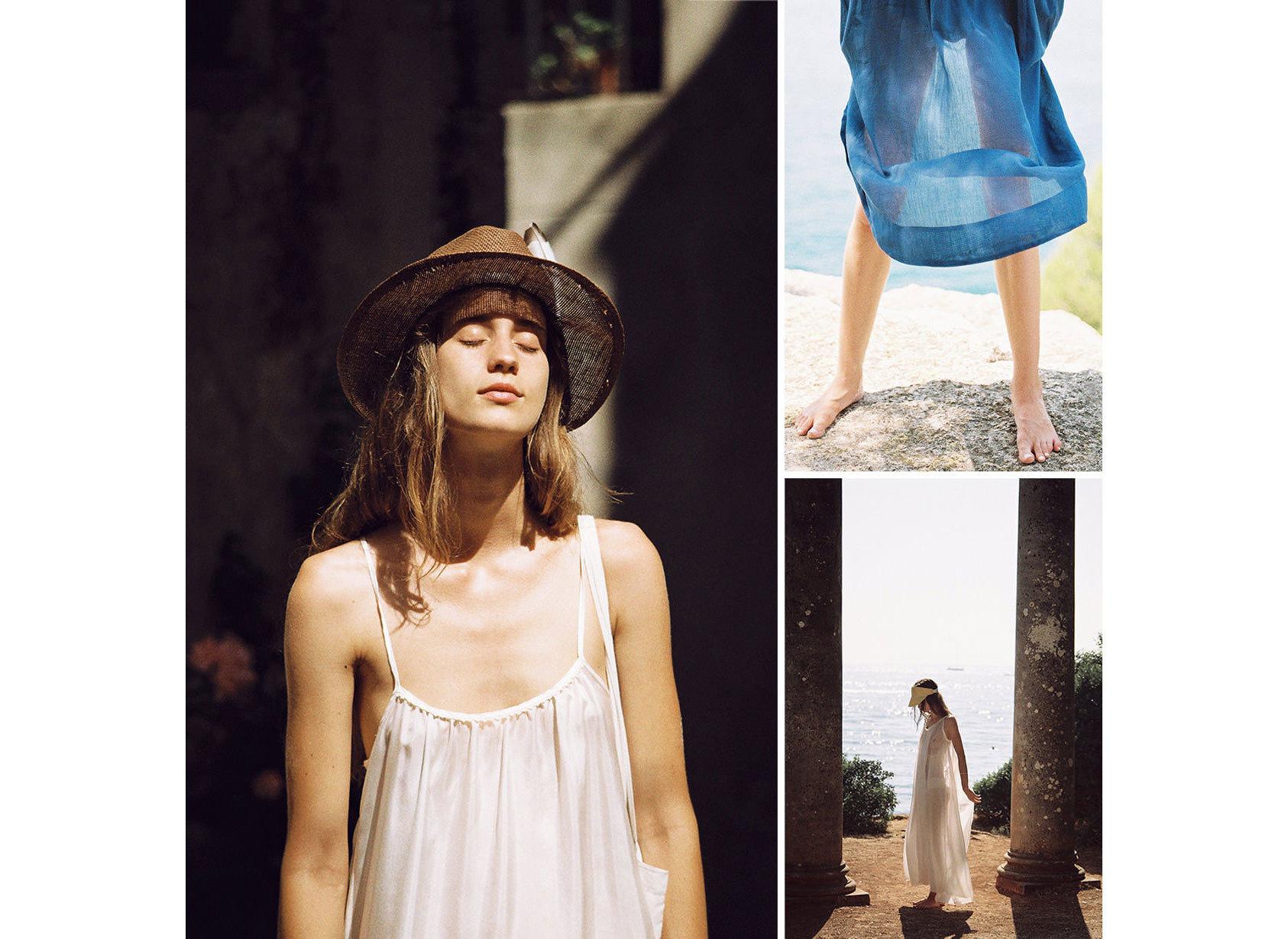 Style + Design Travel Shop person fashion model shoulder headgear fashion hair accessory outerwear photo shoot headpiece long hair girl hat neck posing