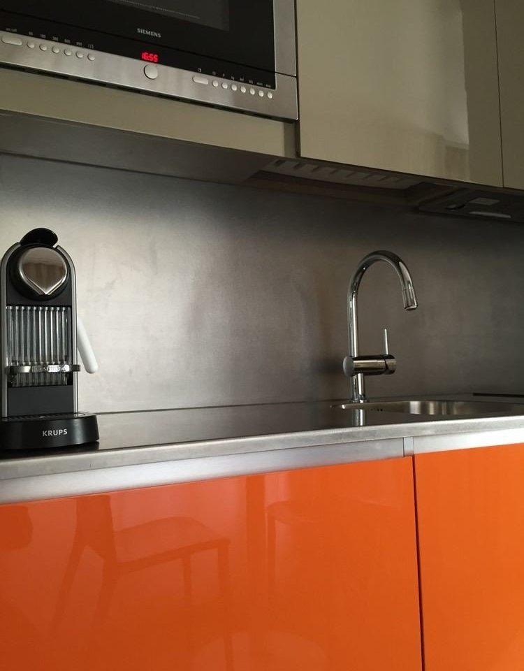 cabinet Kitchen countertop flooring tile counter sink steel stainless appliance kitchen appliance