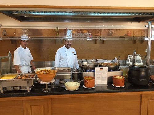 Kitchen cabinet preparing cooking counter food bakery cook cuisine lunch restaurant breakfast working buffet