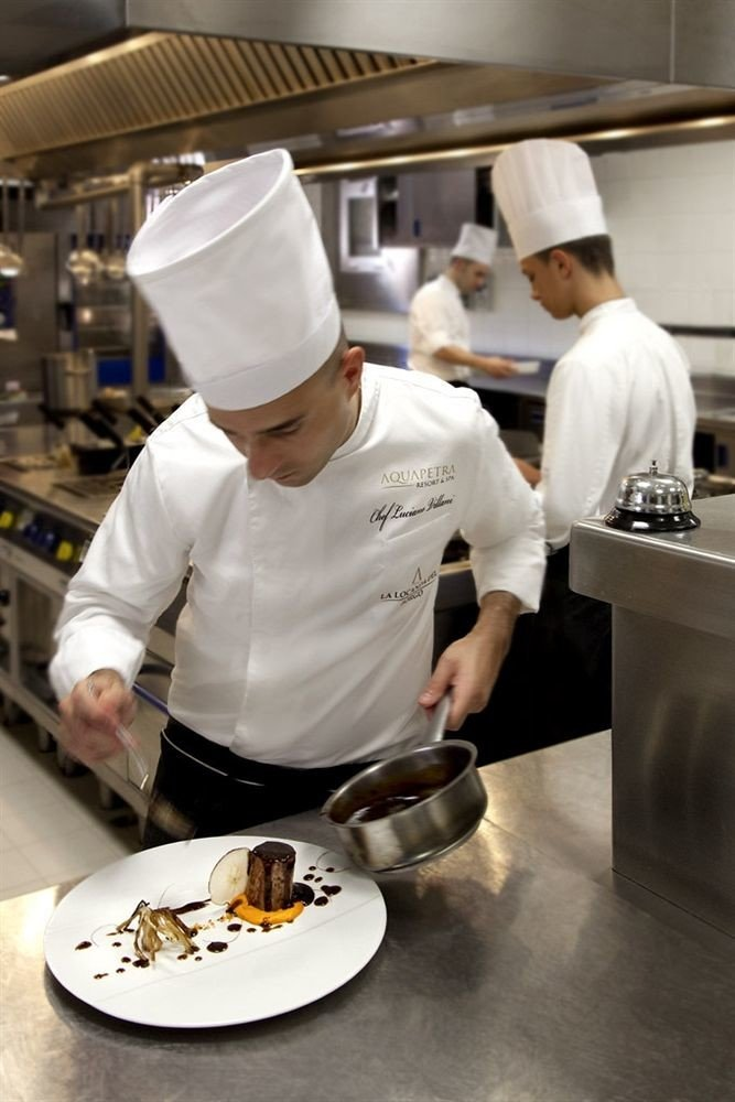 Kitchen food preparing cook culinary art professional chef cooking profession pastry chef counter cuisine baking
