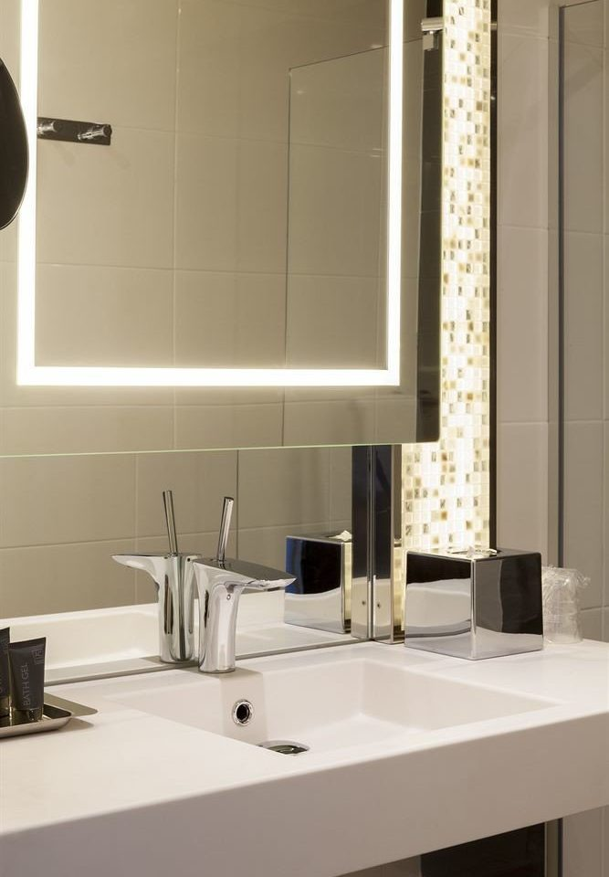 bathroom sink mirror toilet countertop lighting home tile flooring plumbing fixture Kitchen bathroom cabinet water basin