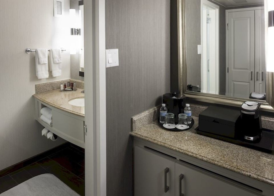 bathroom sink mirror property home countertop cottage cabinetry counter Kitchen