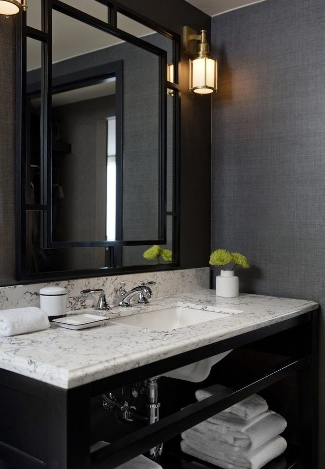bathroom mirror sink countertop cabinetry home lighting counter Kitchen plumbing fixture