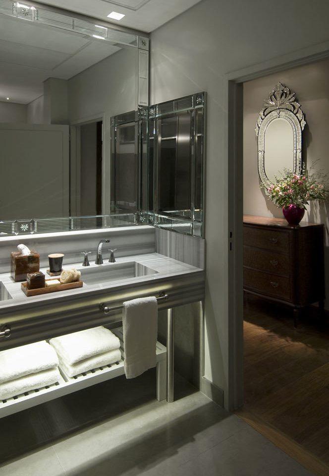 bathroom mirror Kitchen house home sink counter lighting cabinetry countertop flooring kitchen appliance