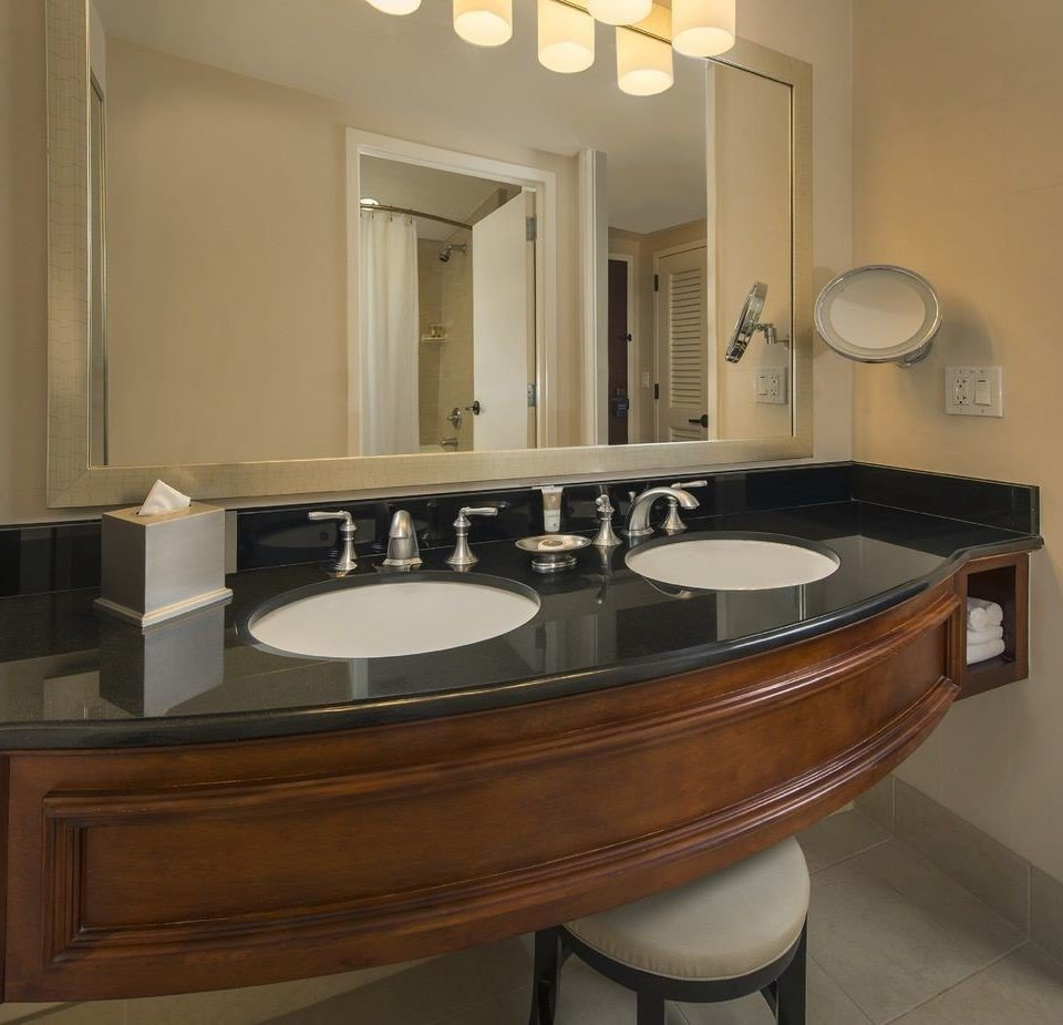 bathroom mirror sink countertop property cabinetry Kitchen hardwood home material