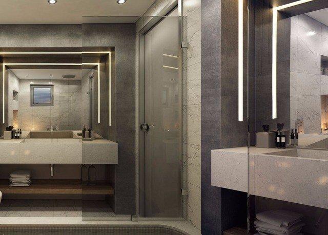 bathroom mirror sink home lighting cabinetry plumbing fixture Kitchen flooring