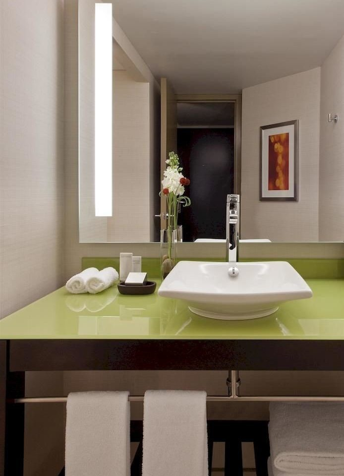 bathroom mirror sink property home countertop Kitchen flooring living room clean dining table