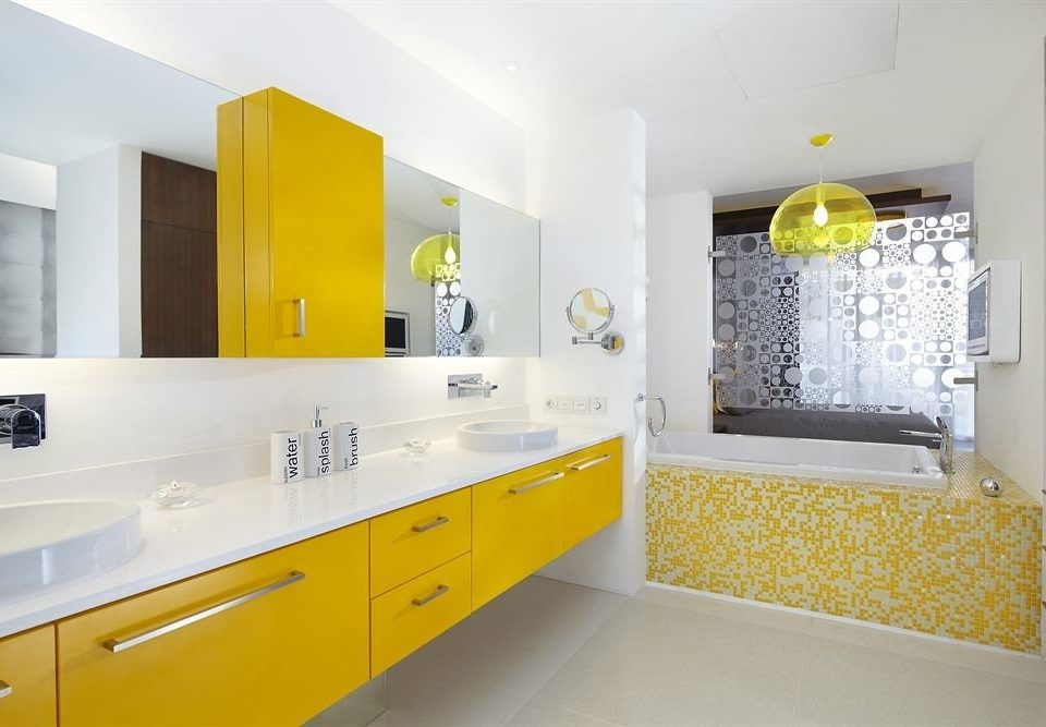 yellow property bathroom Kitchen home flooring colored
