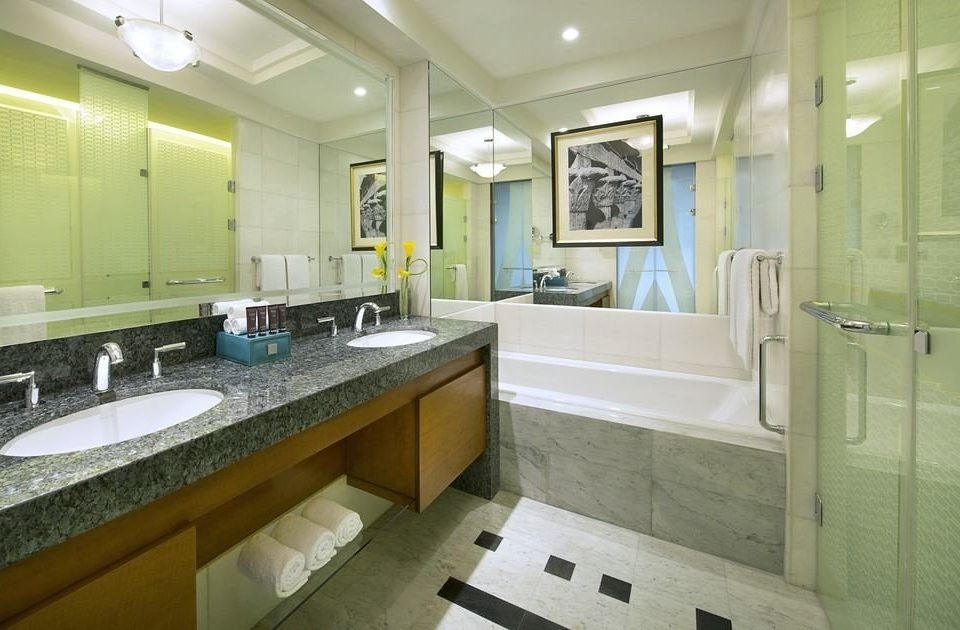 bathroom sink property mirror home counter Kitchen condominium cottage countertop tile tiled