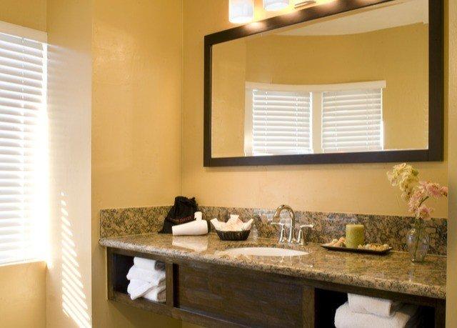 bathroom mirror sink property counter home countertop Kitchen vanity cottage