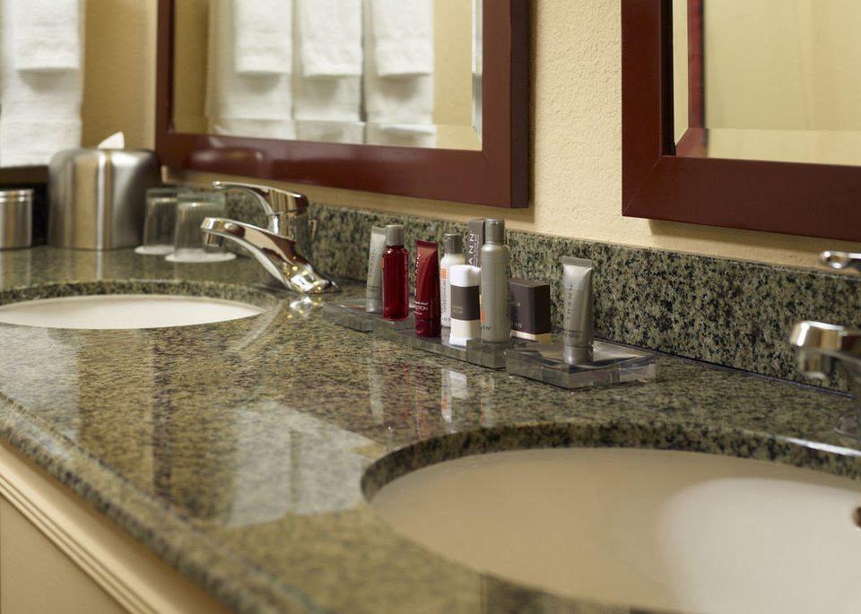 sink bathroom mirror countertop counter Kitchen flooring home tile material plumbing fixture granite