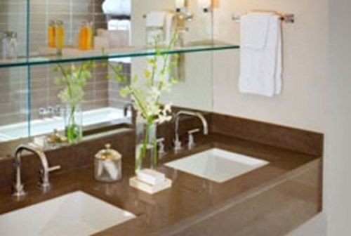 bathroom countertop property sink plumbing fixture Kitchen flooring counter material double toilet