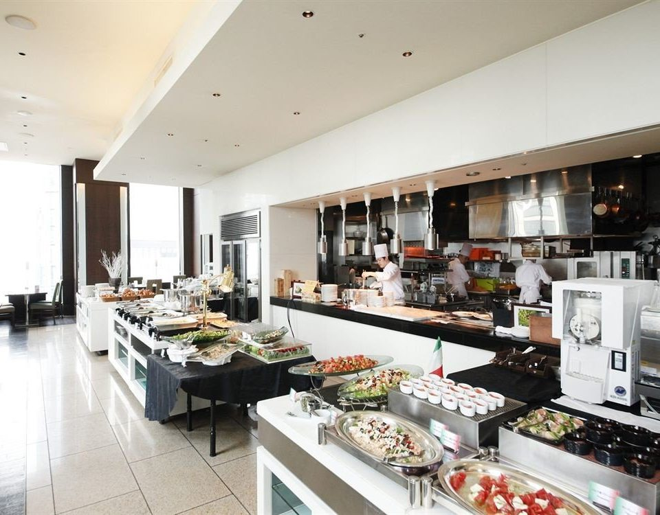 food Kitchen property counter restaurant cuisine cafeteria buffet