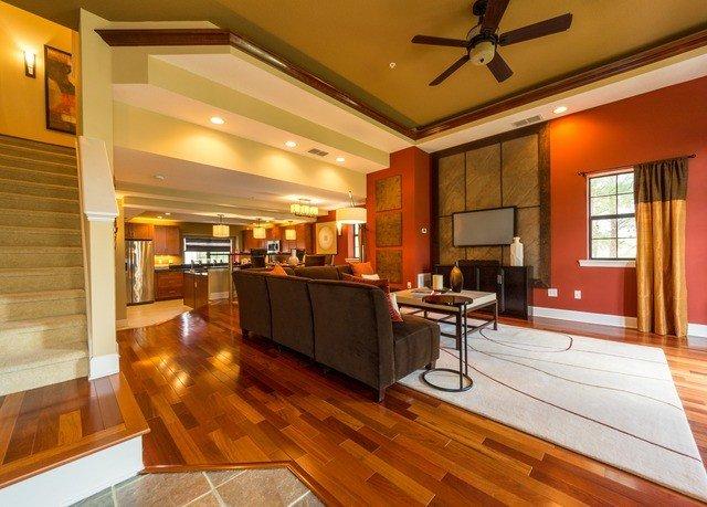 property building hardwood home countertop Kitchen wood flooring condominium cabinetry hard