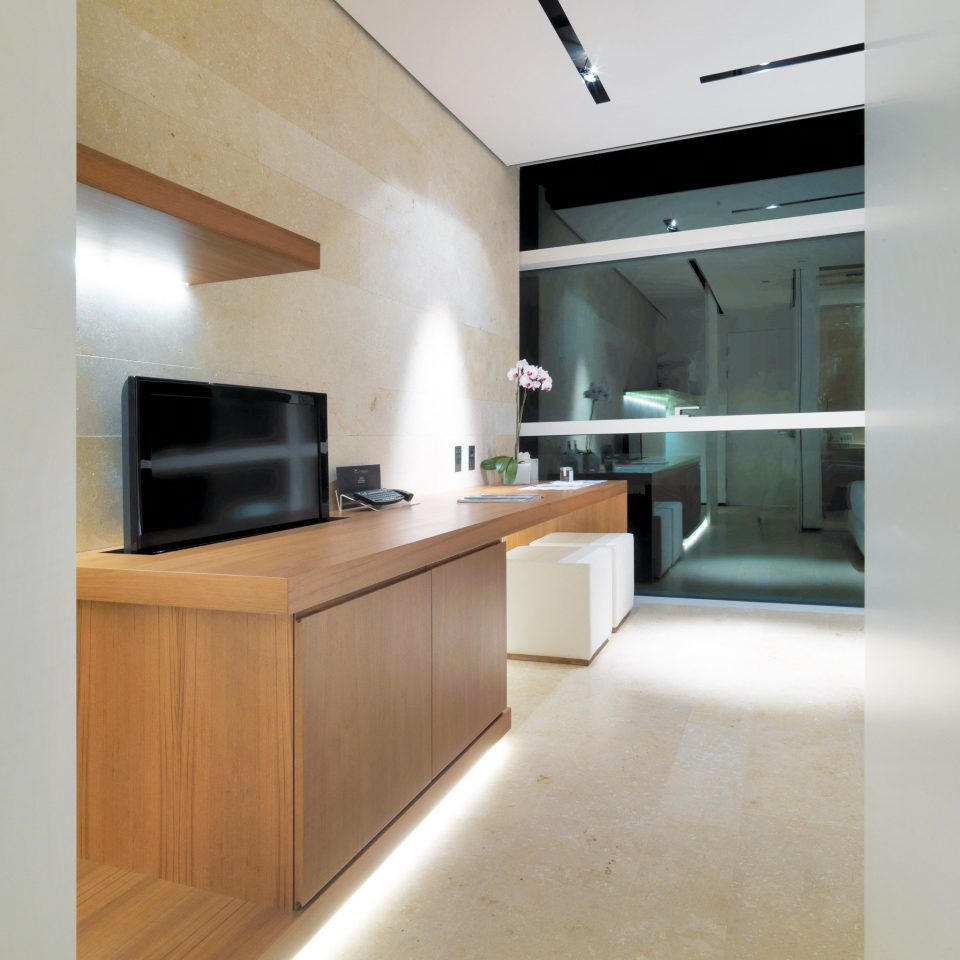 building property Kitchen cabinetry hardwood home lighting countertop flooring loft empty stainless