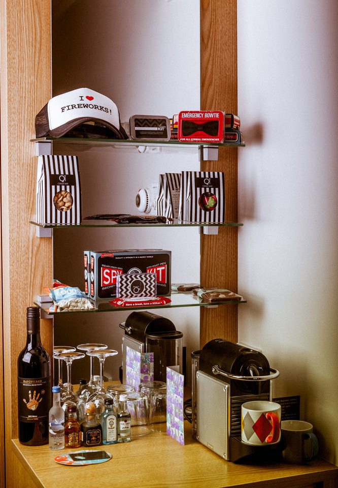 shelf home shelving Kitchen pantry cluttered