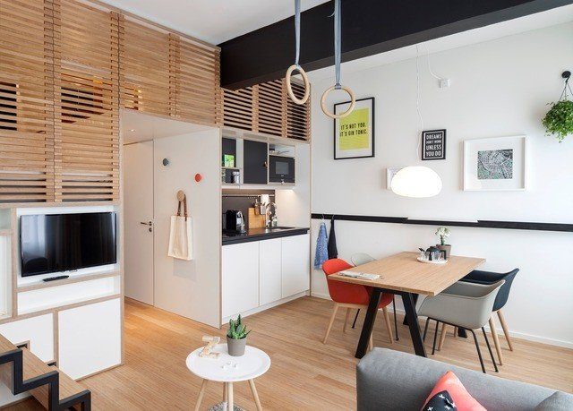 property Kitchen home cottage living room condominium loft