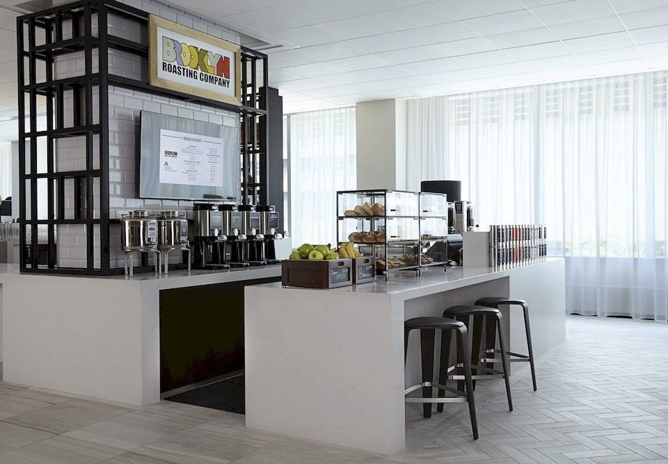 Kitchen property home white condominium loft living room office