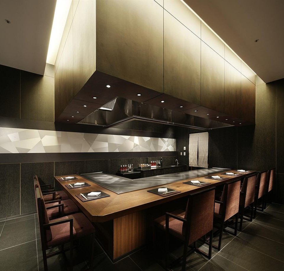 Kitchen counter lighting restaurant steel stainless