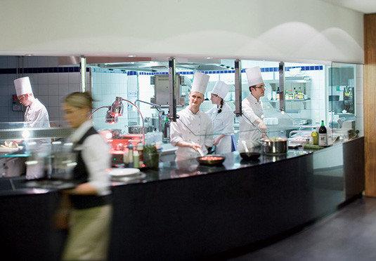 Kitchen preparing counter working