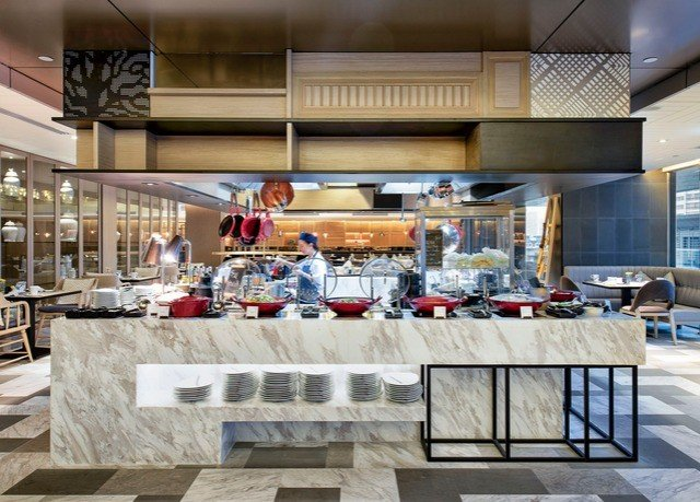 Kitchen bakery restaurant cafeteria buffet counter Lobby food food court