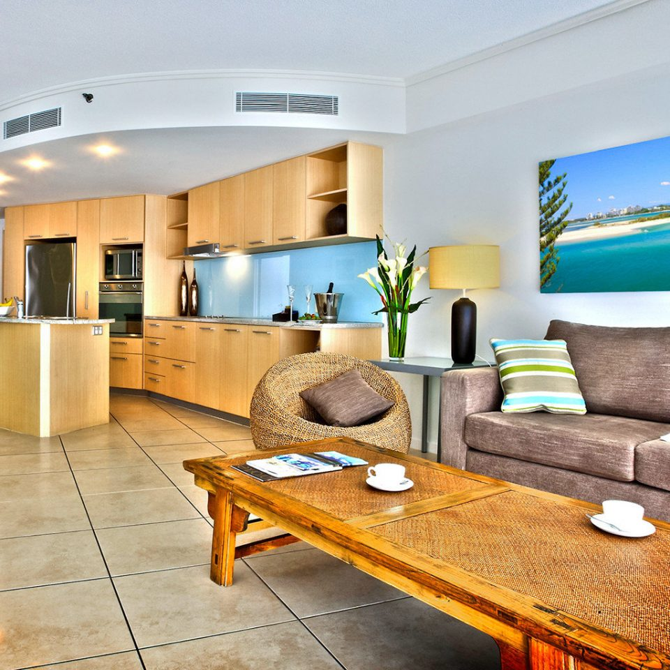 Kitchen Modern Resort property living room condominium home Suite Lobby