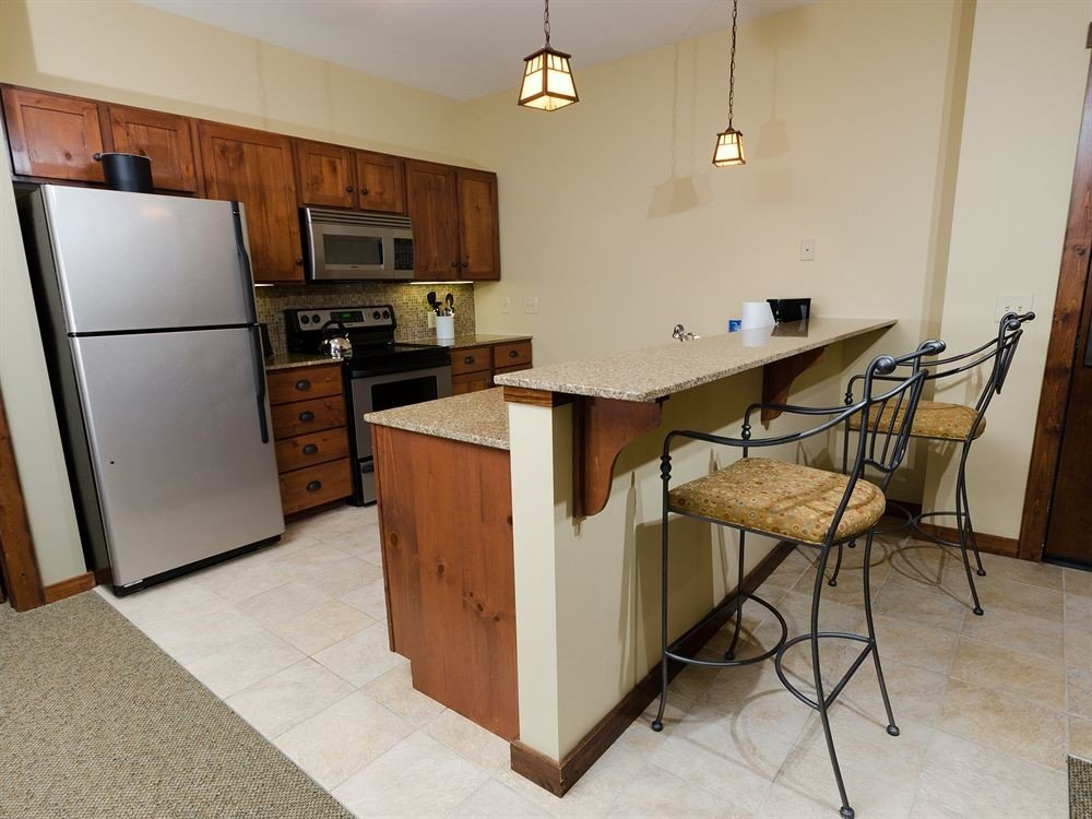 Kitchen Lodge property home house cottage hardwood cabinetry